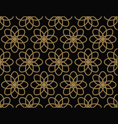 modern luxury geometrical ornaments with lines vector image