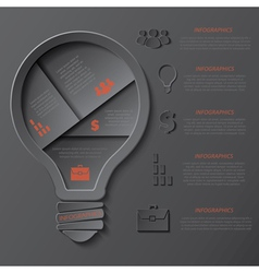 Modern template infographics design with lightbulb vector