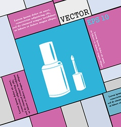 NAIL POLISH BOTTLE icon sign Modern flat style for vector