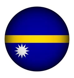 Nauru flag button vector image