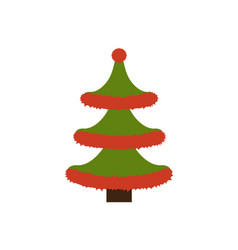New years tree made of tinsel vector