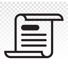Newspaper latest flat icon on a transparent vector