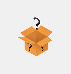 Open secret mystery box isometry packaging with vector