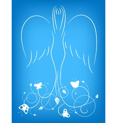 Ornamental angel vector