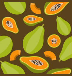 papaya seamless pattern for wallpaper or wrapping vector image
