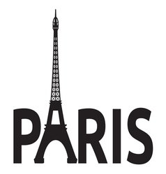 Paris - Eiffel Tower retro card vector image