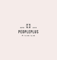 people plus family health care group logo icon vector image