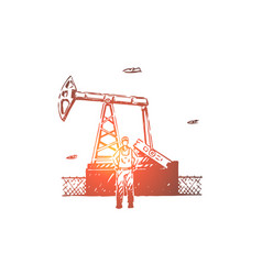 petroleum refinery employee vector image