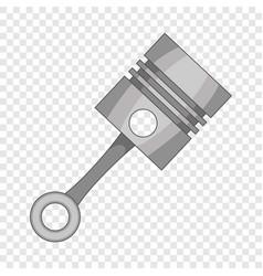 Piston icon cartoon style vector