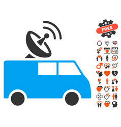 Radio control car icon with lovely bonus vector