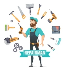 Repair Elements Round Template vector