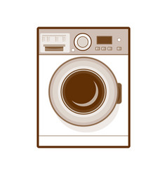 Retro washing machine vector