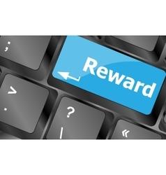 Rewards keyboard keys showing payoff or roi vector