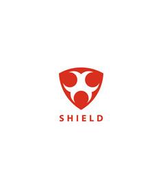 security shield logo design template vector image