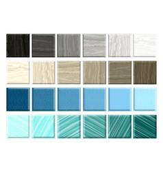 Set different mosaic marble smalt vector