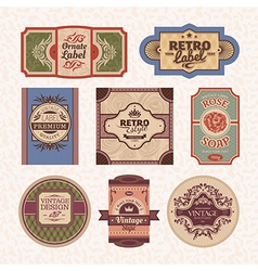 set of vintage style frames vector image vector image