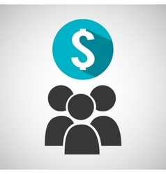 social media group money design vector image