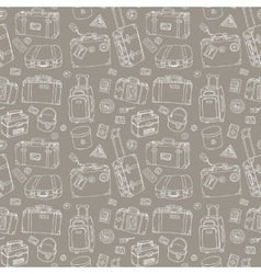 Suitcases Seamless background vector image
