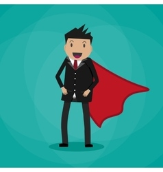 Super Businessman in suit vector