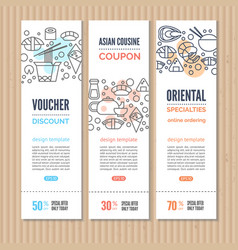 sushi vertical banners vector image
