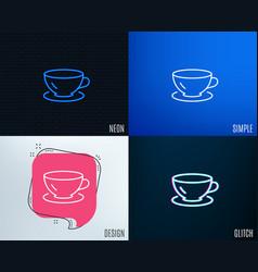 tea cup line icon coffee drink sign vector image