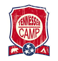 Tennessee camp vintage sign vector
