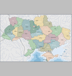 ukraine is a country in eastern europe vector image