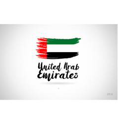 united arab emirates country flag concept with vector image