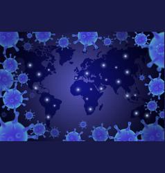 virus epidemic 2020 poster coronavirus vector image