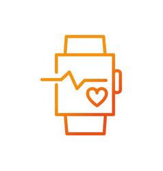 Wearable technology bracelet fitness gradient line vector