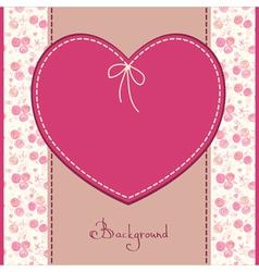 wedding or birthday card vector image
