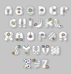 White alphabet superhero style vector