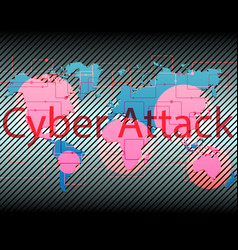 World map cyber attack by hacker concept vector