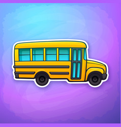 yellow toy school bus vector image
