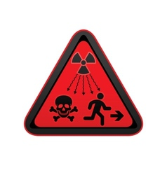 hazard warning radiation symbol vector image vector image