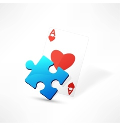 Hearts playing card vector image