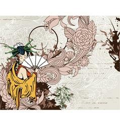 japanese grunge background vector image vector image