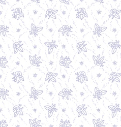 Little purple roses seamless pattern vector image vector image