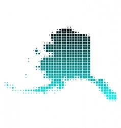 map of Alaska vector image vector image