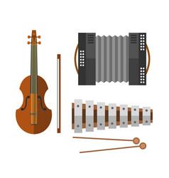 piano keyboard accordion harmonica musical vector image vector image