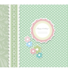 Retro floral greeting card vector image