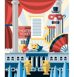 Theatre icons concept vector image vector image