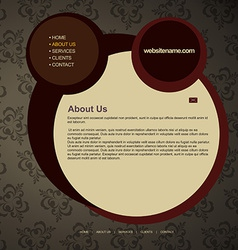 web layout vector image vector image