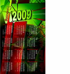 2009 calendar vector image