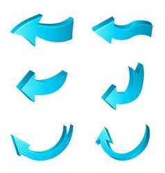 direction arrows vector image