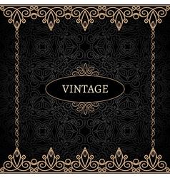 Vintage gold background vector image vector image