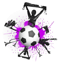 football fans grunge vector image vector image