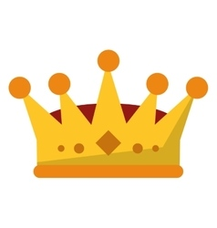 Isolated royalty crown design vector image