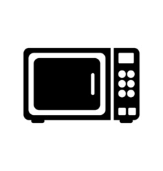 Microwave icon Flat design vector image vector image