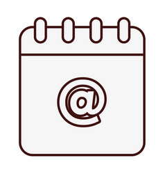 Notepad icon image vector